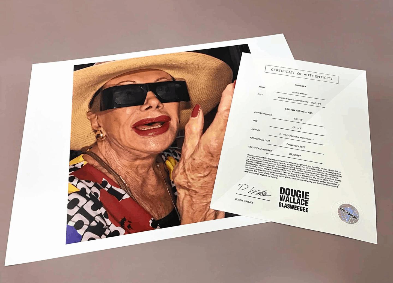 Art Print Certificate